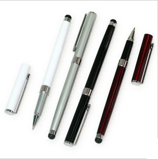 Dual pen capacitor pen 2 stylus stainless steel touch pen