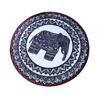 Europe God Elephant Round Home Rug And Carpets For Living Room Bedroom Rug Animal Floor Mat