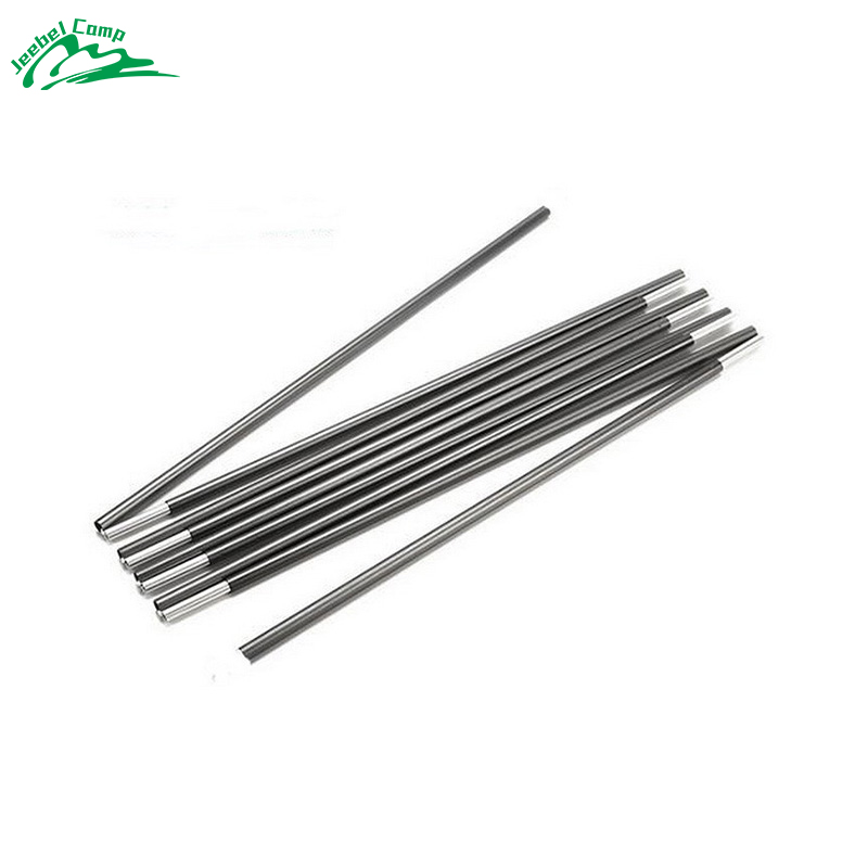 2pcs/set 3.35M or 4.03M Fiberglass Tent Rod Outdoor Camping Tent Pole Spare Replacement Tent Support Poles Tent Accessories