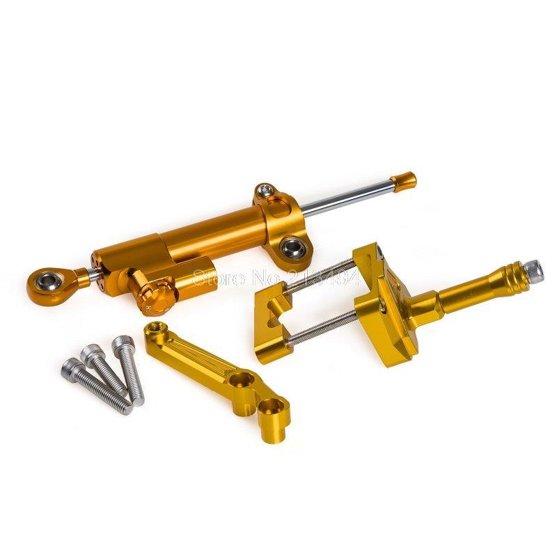 ФОТО High Quality Steering Damper Stabilizer Bracket Mounting Kit For Kawasaki Ninja 250R 2008 - 2012 2009 2010 2011