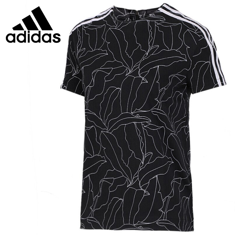 Original New Arrival Adidas Neo Label W T SS STN AOP Women's  T-shirts short sleeve Sportswear