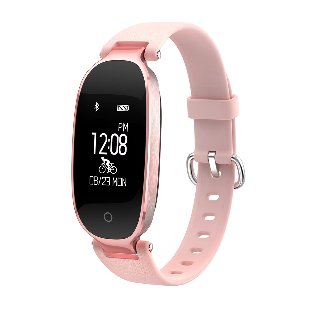 For Women Lady KF06 Sport Bluetooth Waterproof Smart Watch Wristband Passometer Heart Rate Fashion Bracelet for iPhone 6S Plus 6 fashion diamante heart embellished sister bracelet for women