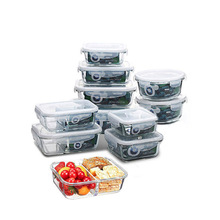 Glass Food Storage Container Bento Lunch Box Microwave Refrigerator Safety 100% Airtight Leakproof