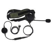 talkie walkie 2 באומן טקטי פין עלית II אוזניות עם מיקרופון PTT Waterproof עבור G6 Talkie Walkie מידלנד G7 GXT550 GXT650 LXT80 LXT112 LXT435 (3)