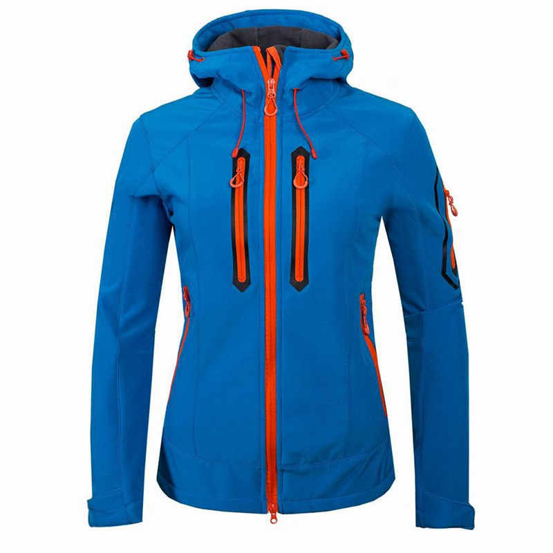 חדש Softshell מעיל נשים עמיד למים גשם מעיל חיצוני בגדי הליכה נשי Windproof קליפה רכה צמר מעילים