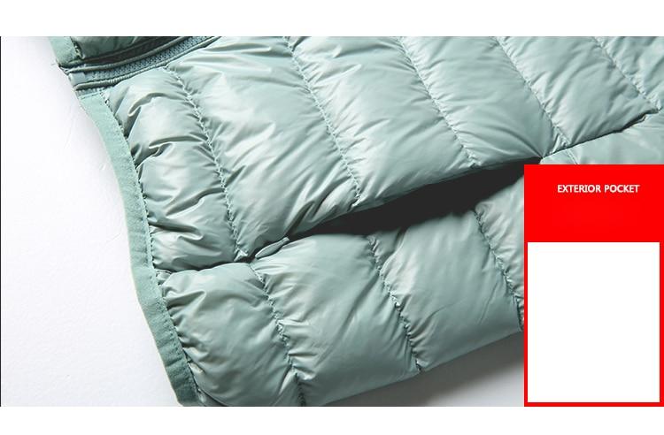 SEDUTMO Winter Plus Size 4XL Womens Down Jackets Short Ultra Light Duck Down Coat Hooded Puffer Jacket Autumn Parkas ED034 17