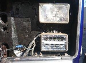 Image 5 - 4pcs 4 x 6inch LED Rectangular Headlights for Chevrolet Peterbilt 379 Buick Electra Freightliner FLD120