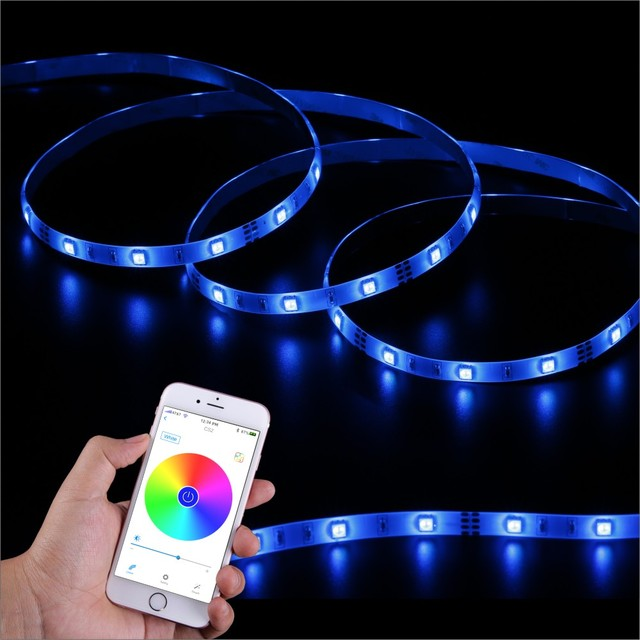 Singhong 300cm 90 leds bluetooth light strip rgb 16 million colors singhong 300cm 90 leds bluetooth light strip rgb 16 million colors brightness adjustable smartphone app control aloadofball Image collections