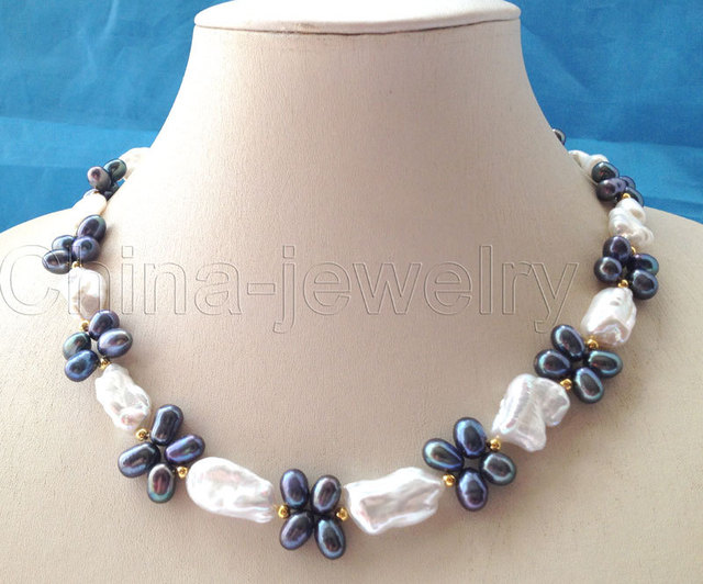 "Beautiful 18"" 21 mm white Reborn baroque   pearl necklace"