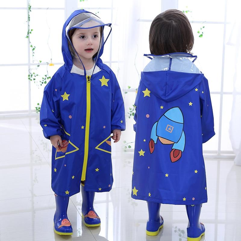 Dziecięcy płaszcz przeciwdeszczowy Fashion Cartoon Waterproof Boy - Ubrania dziecięce - Zdjęcie 1