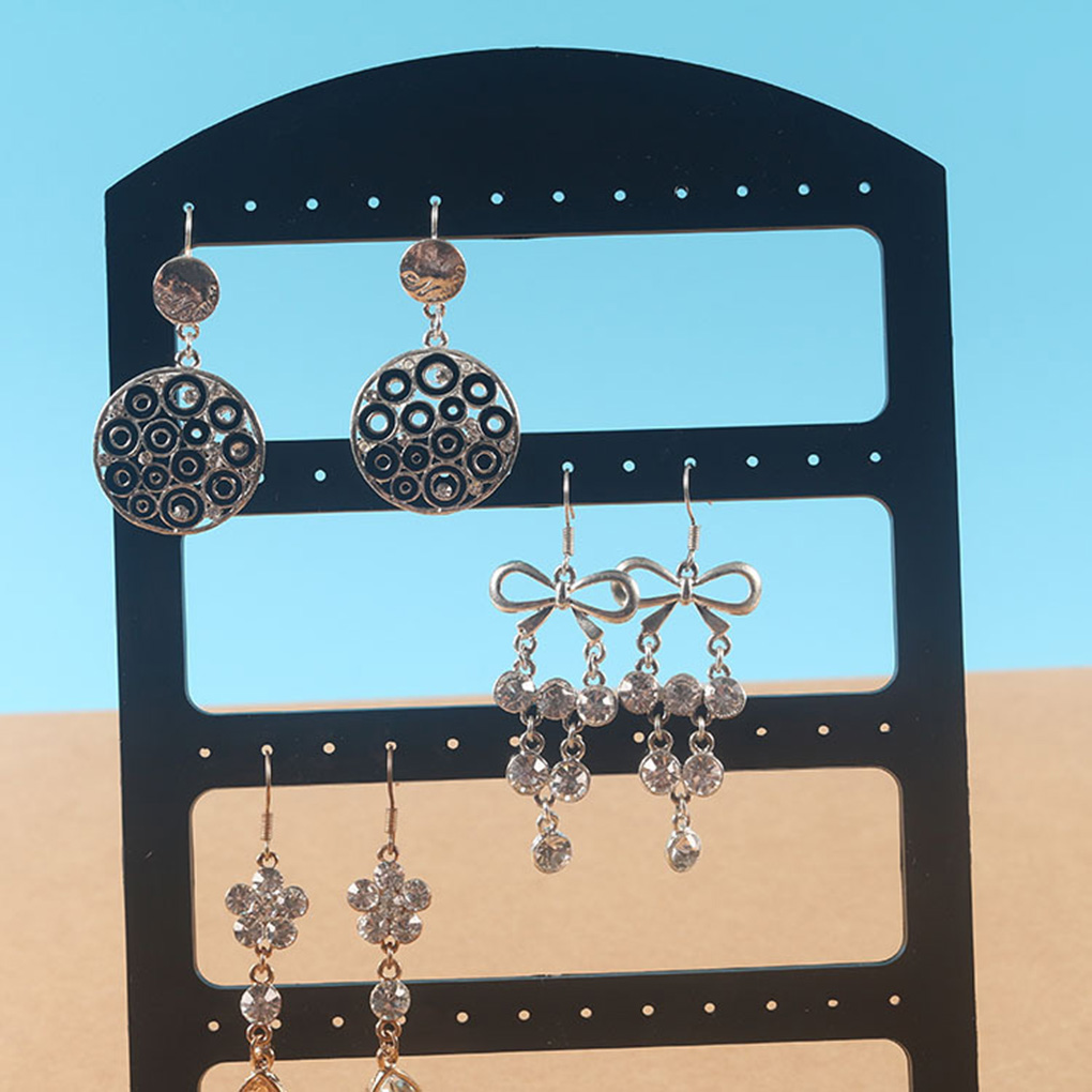 Plane Design Jewelry Rack Earrings Earbud Wristband Necklace Bracelet Display Acrylic Large Holder