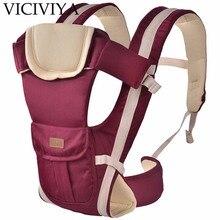 VICIVIYA 0-4 em 1 30 Meses Respirável Frente Virada Baby Carrier Infantil Confortável Sling Backpack Bolsa Envoltório Bebê canguru