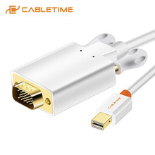 2019 Cabletime Mini DP untuk Vga Kabel Thunderbolt Mini DisplayPort Ke VGA Kabel untuk MacBook Air Monitor LCD Pro Komputer c060(China)