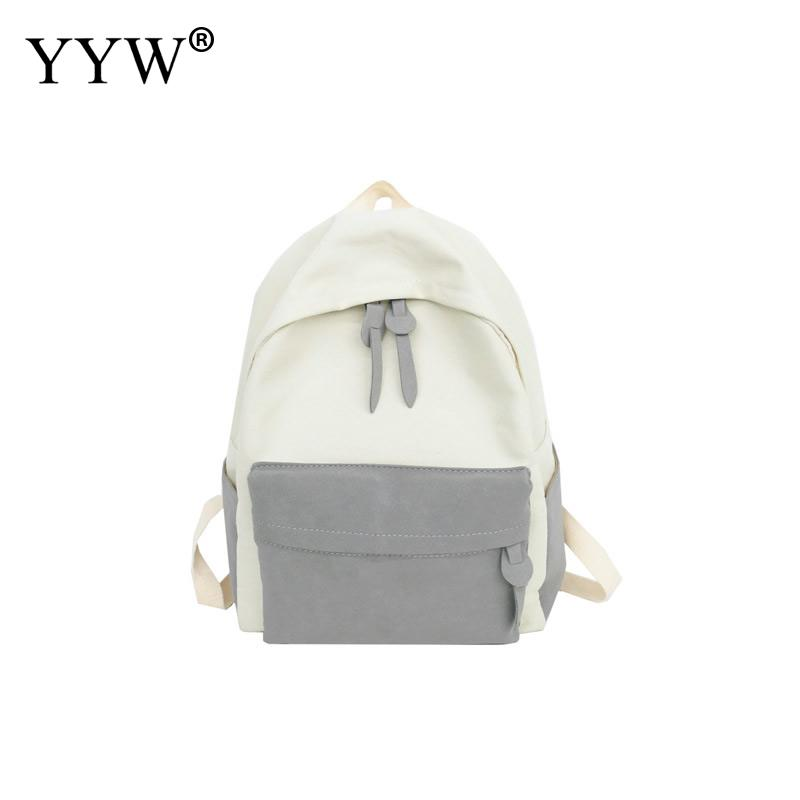 Travel Backpack Women School-Bags Canvas Teenager Large-Capacity Casual For Girl Student
