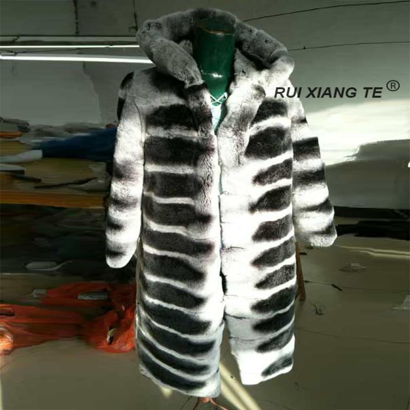 ingyenes szállítás RuiXiangTe női kabát prém rex nyúl valódi - Női ruházat