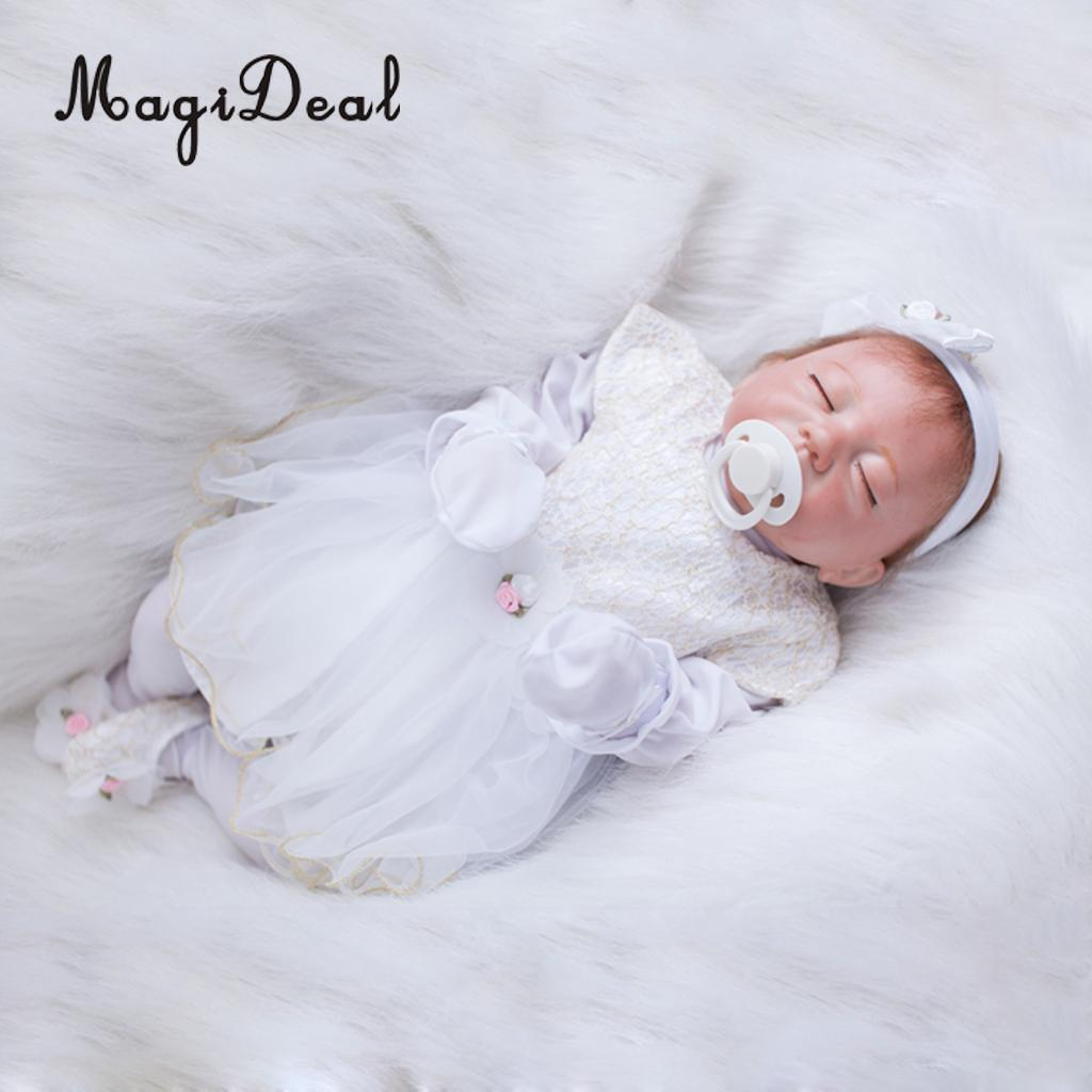 New Lace Jumpsuit Shoes /& Socks Suit for 22inch Reborn Doll Dress Up Skirt