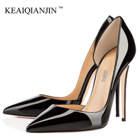 KEAIQIANJIN Woman Pointed Toe High Heels Bride Shoes Big Size 33 Valentine Shoes Sexy Chaussures Femmes De Luxe De Marque Pumps
