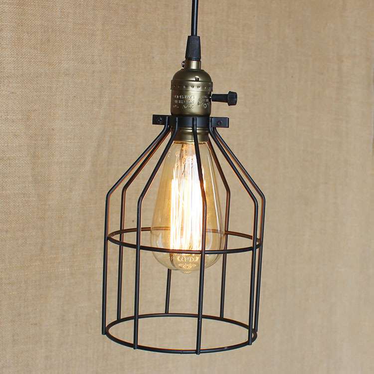Loft Iron Pendant Light Vintage Industrial Lighting Bar Cafe Bedroom Restaurant Nordic Style Bird Cage Iron Hanging Light WPL100 new loft vintage iron pendant light industrial lighting glass guard design bar cafe restaurant cage pendant lamp hanging lights
