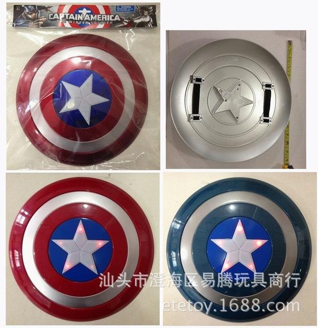 32 CM escudo del Capitán América 2 avengers alliance Voz brillante Engrosamiento del escudo apoyos Del Partido