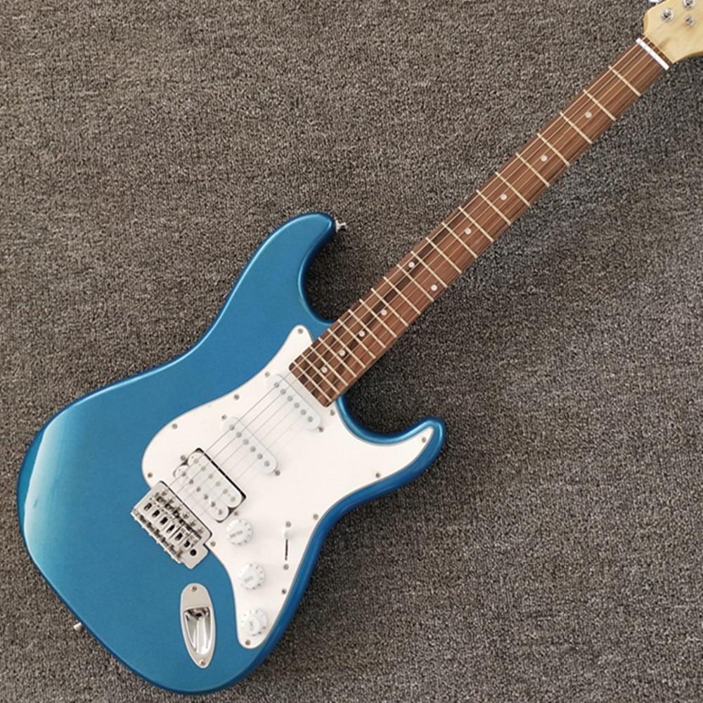 Boutique sur mesure, 6 cordes ST guitare Fen bleue de qualité supérieure, livraison gratuite