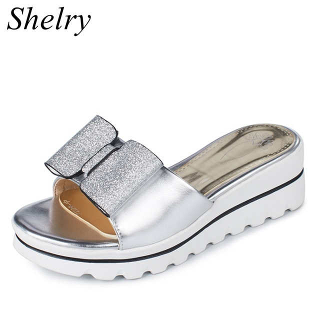 gold silver slippers new design open toe high platform summer shoes  comfortable high heels shoes women 4209b1eb3b08