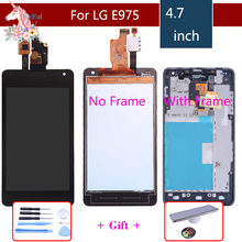 цена на Display for LG E975 Display Touch Screen Digitizer for LG Optimus G E975 LCD LS970 F180 E971 E973 original LCD Display assembly