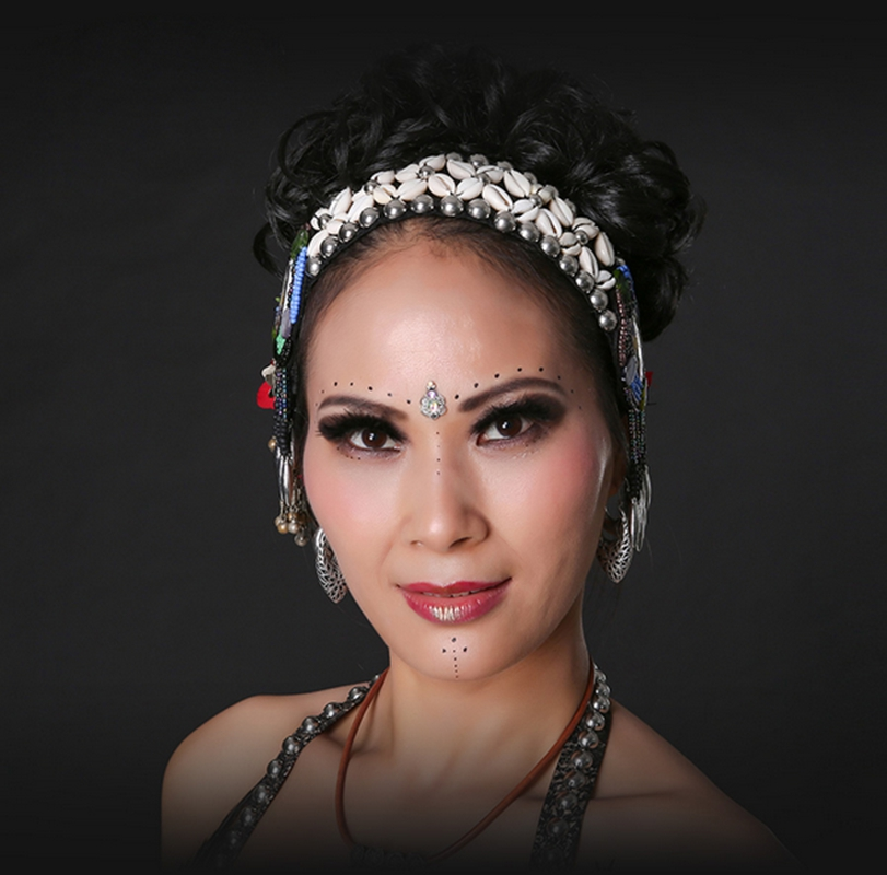 2017 ATS Tribal Belly Dance Accessories Women Headpieces Dance Headbands  Bellydance Tassel Gypsy Dance Tribal Headband-in Belly Dancing from Novelty  ... 35b9a3f88f1