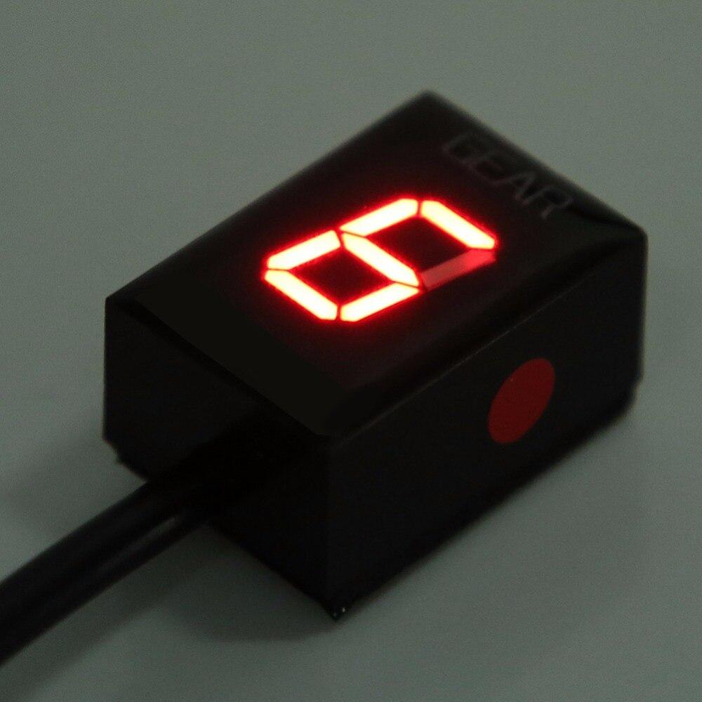 цена на Motorcycle 1-6 Speed Gear Display Indicator ECU Plug for Suzuki Intruder 800 V-Strom GSXR 600 SV650 750 SV 650 Red LED