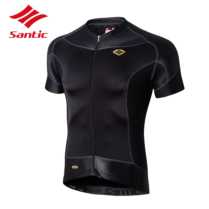 Santic Cycing Jersey 2018 Men Pro Team DH Downhill Bicycle Bike Jersey Quick Dry MTB Road Cycling Clothing Maillot Ropa Ciclismo 2017 pro team fdj spring long sleeve cycling jerseys bicycle maillot breathable ropa ciclismo mtb quick dry bike clothing 3d gel