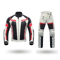 DUHAN Summer Motorcycle Jackets Men Motorbike riding jackets& pants with body protectors Motocross Racing Suits