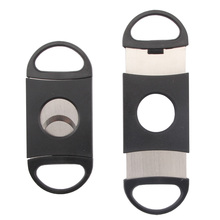 GALINER Plastic Cigar Cutter Double Stainless Steel Blades Guillotine Pocket Knife for COHIBA Cigars