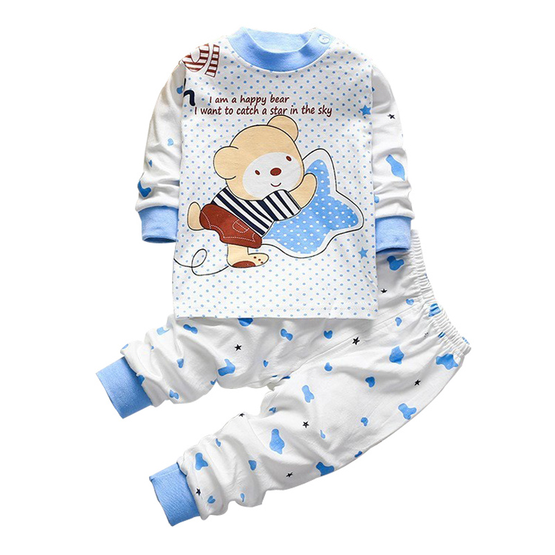 baby newborn cute pajamas cartoon sleep boys infant children clothing suit sets underwear cotton