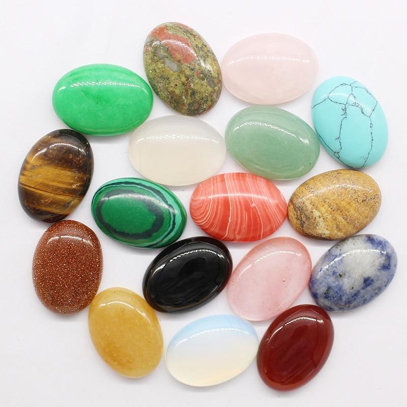 2018 Z 12pcs/lot 18mmx25mm Mixed Natural stone Oval CAB CABOCHON teardrop Wholesale Powder/Tiger eye stone beads Free shipping