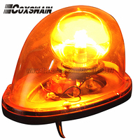 Free Shipping TBD GA D212 Amber Beacon Rotator Light Magnetic Install Power 30W DC12V PC Lens