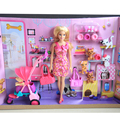 Original Barbie Doll Toys Princess Barbie House Clothes Dress Bedroom furniture Accessories Set Birthday Gifts Toys For Girls