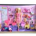 Original barbie doll toys casa roupas vestido de princesa barbie mobília do quarto conjunto de acessórios presentes de aniversário toys para meninas