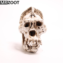 MRZOOT Gothic Punk Gorilla Skull Sculpture Cool Resin Crafts Home Decoration and Creative Halloween Festival Party