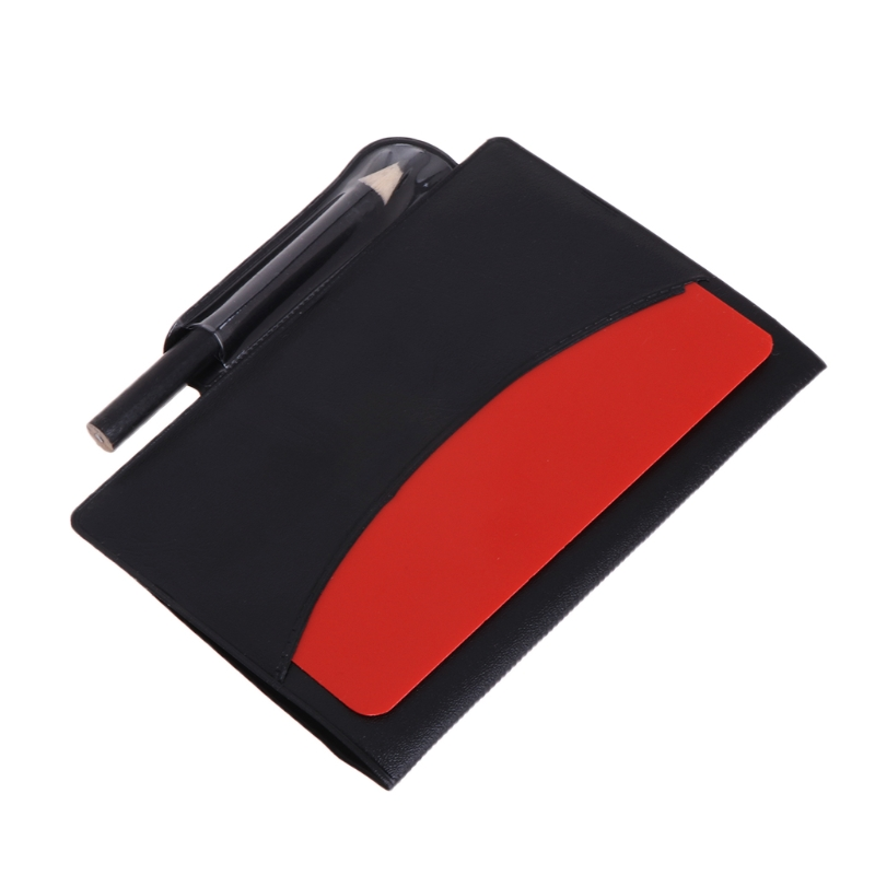 Sport Football Soccer Referee Wallet Notebook with Red Card and Yellow Card