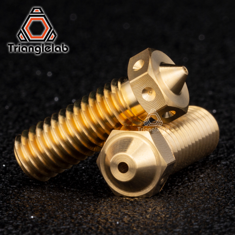 Trianglelab 1PC Top Quality Brass Volcano Nozzle For 3D Printers Hotend For E3D Volcano Hotend  M6 Extruder Nozzle
