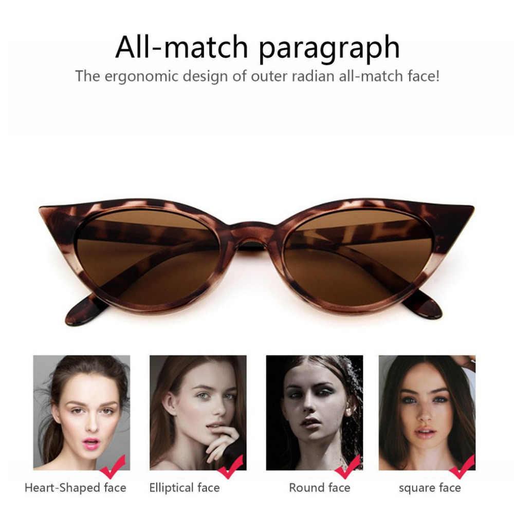 Fashion Retro Thick Frame Cat Eye Sunglasses Women Ladies Fashion Brand Designer Mirror Lens Cateye Sun Glasses For Female