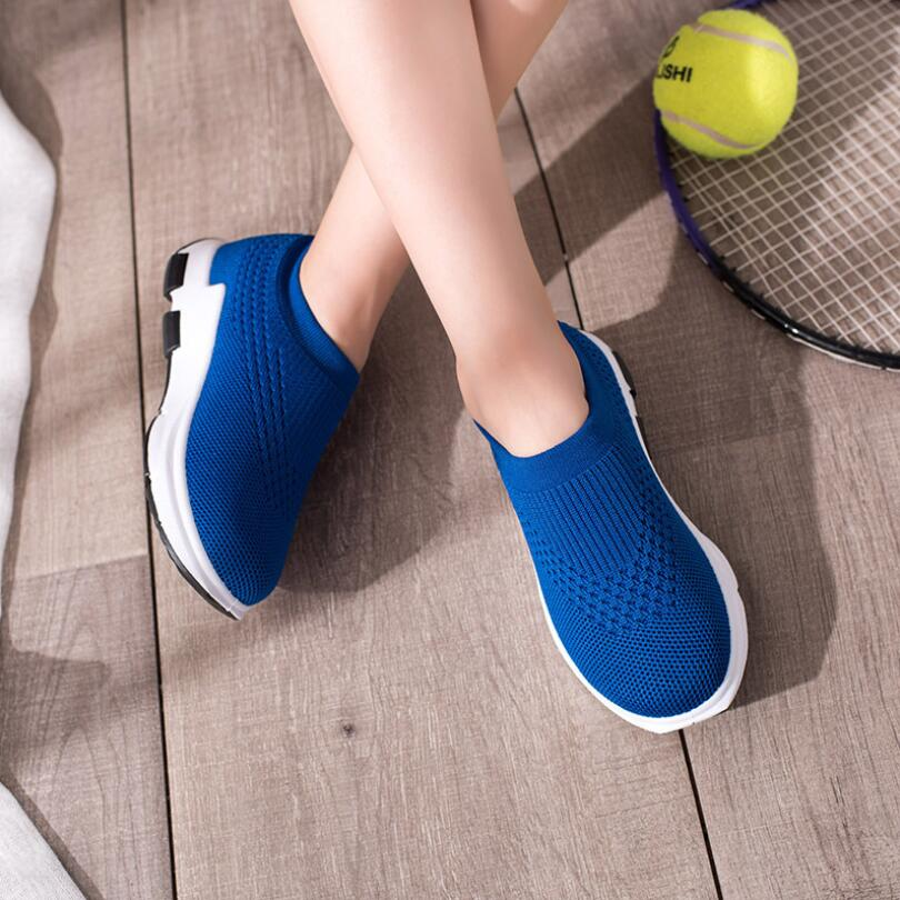 Children's sports shoes 2019 wave girls boys shoes white fashion sneakers kids breathable mesh casual shoes slip on soft shoes