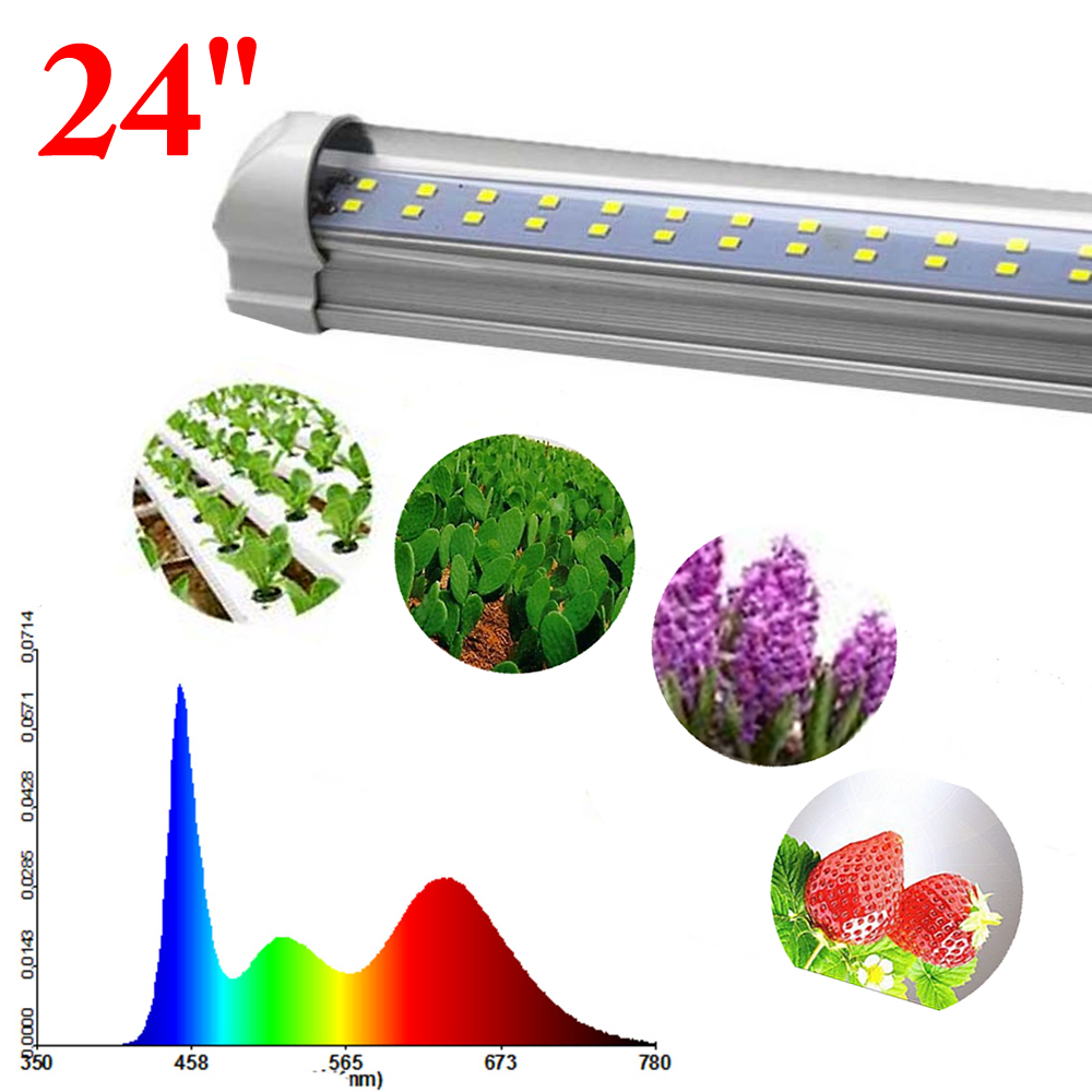T8 White Sun Like Light Full Spectrum Led Grow Light  Indoor Greenhouse Plant Growing Tube 18W 24