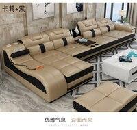 Диван для гостиной угловой диван массажный из натуральной коровьей кожи секционный диван минималистский muebles de sala moveis para