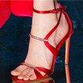 2017 Новый Темперамент Женщины Сандалии Sexy Стразы Высокий Каблук Мода Очень красивая Свадьба Нагнетает Ботинки