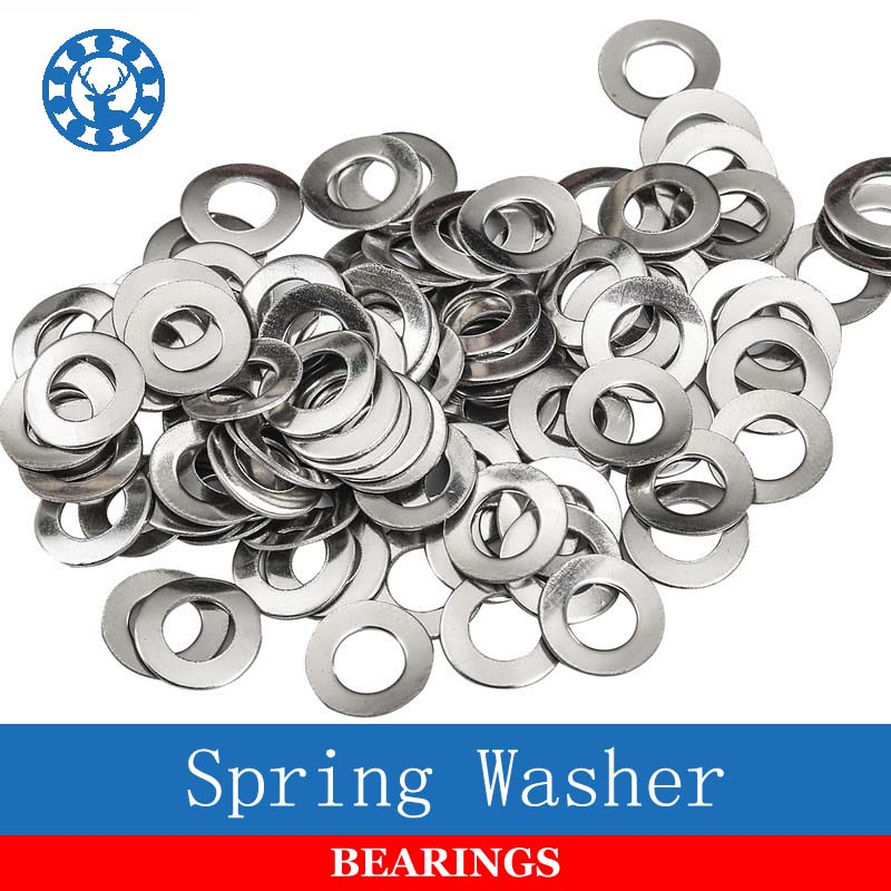 100Pcs DIN137A GB860 M2 M2.5 M3 M4 M5 M6 <font><b>M8</b></font> M10 304 Stainless Steel Wave <font><b>Washers</b></font> Spring <font><b>Washer</b></font> image