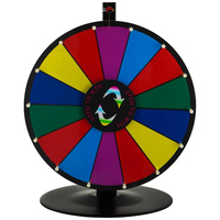 VEVOR Decorative Boards Tabletop Prize Wheel Tripod Floor Stand Fortune Spinning Game Boards Detachable Round Base Decoration