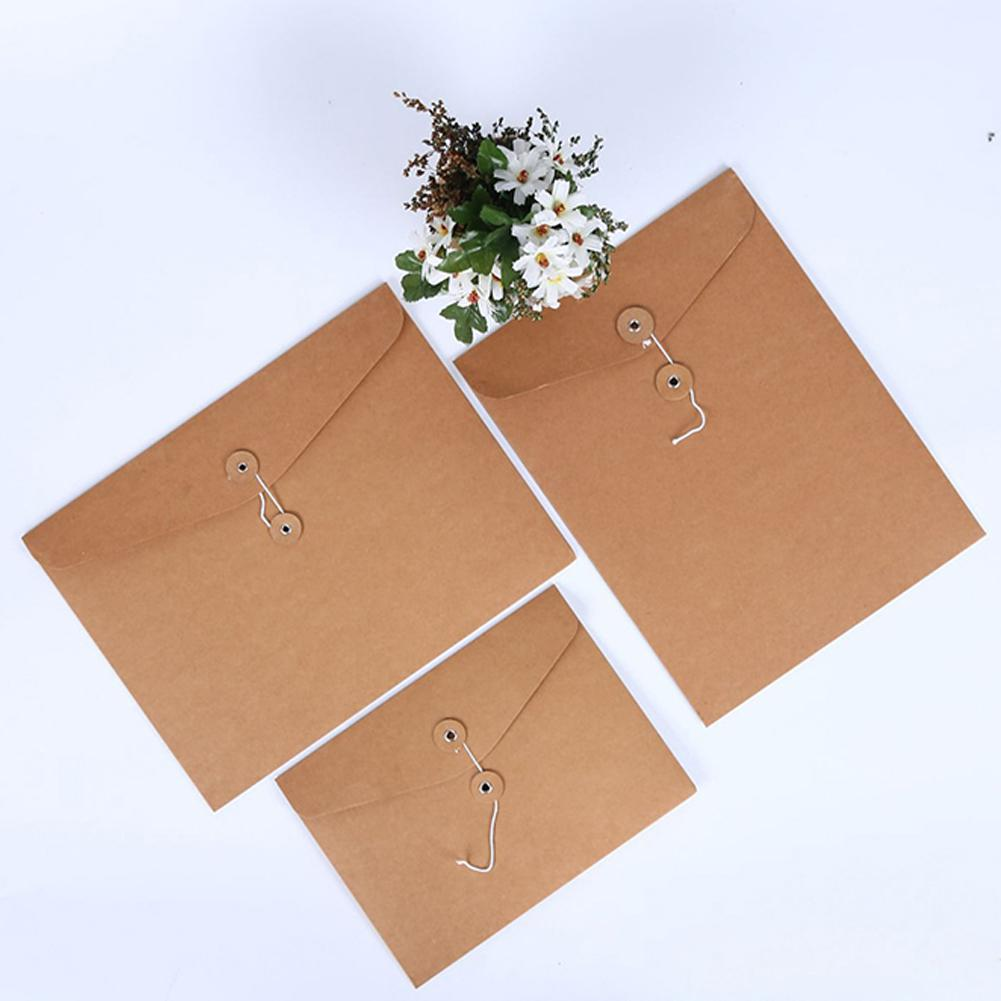 A4 A5 Kraft Paper File Document Holder Envelope Bag Storage Organizer Folder Bag School Office Folder Pouch Supplies
