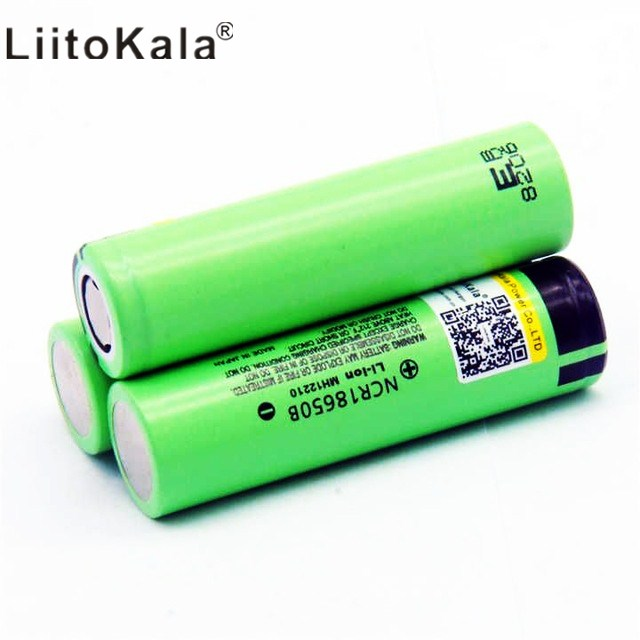 2019 10 pieces / batch LiitoKala original <font><b>18650</b></font> battery 3400 mAh 3.7 volt lithium battery for NCR18650B 3.7 volt battery flash image