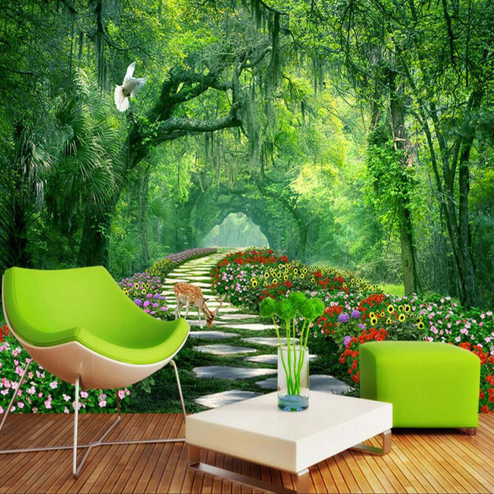 Nature Tree 3D Landscape Mural Photo Wallpaper for Walls 3 d Living Room  Bedroom Home Wall Decor papel de parede 3d Wallpaper in Wallpapers from Home. Nature Tree 3D Landscape Mural Photo Wallpaper for Walls 3 d
