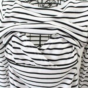 Image 5 - ملابس أمومة الربيع موضة عادية مخطط O طوق الرقبة طويلة الأكمام التمريض الرضاعة الطبيعية للنساء الحوامل